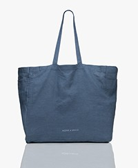 Monk & Anna Kyodaina Linen Shopper - Midnight Blue