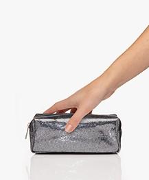 &Klevering Glitter Makeup Bag - Grey