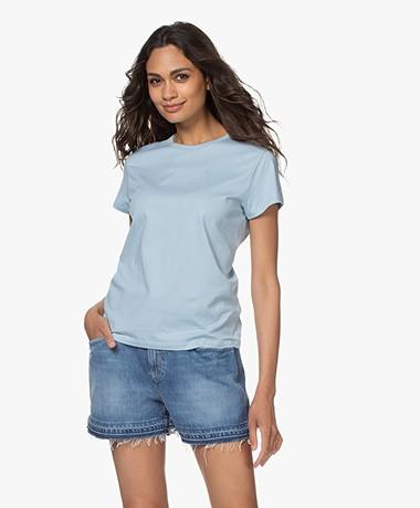 Filippa K Edna Bio Katoenen T-shirt - Pale Blue