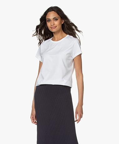 Filippa K Edna Bio Katoenen T-shirt - Wit