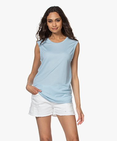 Filippa K Vendela Lyocell Jersey Top - Pale Blue