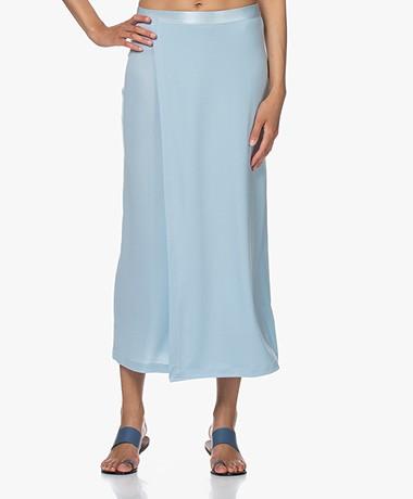 Filippa K Viola Jersey Midi Rok - Pale Blue