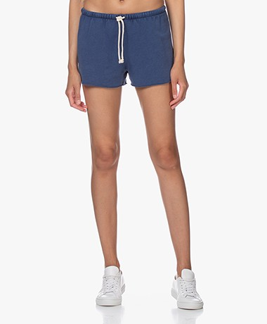 American Vintage Hapylife French Terry Shorts - Vintage Blue