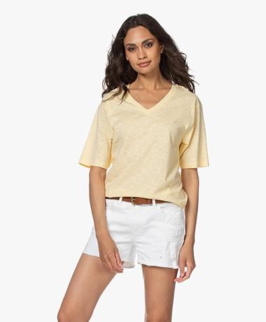 American Vintage Comiwood Linen T-shirt - Floating Island