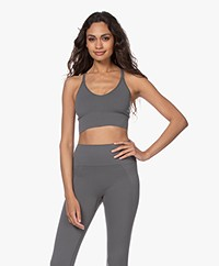 Filippa K Soft Sport Seamless Midi Top - Green Grey