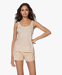 Filippa K Soft Sport Flow Deep Back Tank - Powder Beige