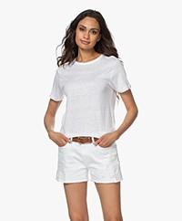Denham Camellia Puur Linnen T-shirt - Wit