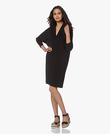 By Malene Birger Bielle Crepe Jersey Dress - Black