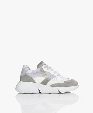 Copenhagen Studios Chunky Platform Leren Sneakers - Lavender