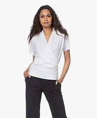 JapanTKY Jody Travel Jersey Wrap T-shirt - White