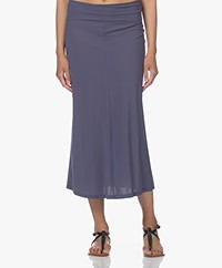 no man's land Tech Jersey Midi Rok - Blueberry