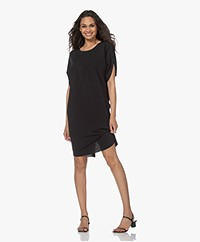 JapanTKY Daly Light Travel Jersey Dress - Deep Black