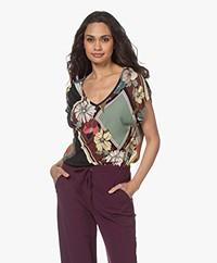 Majestic Filatures Jersey Print T-shirt - Blush