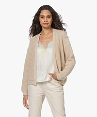 by-bar Lara Susi Short Open Cardigan - Sand