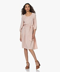 LaSalle Peasant Lyocell Jersey Dress - Blush