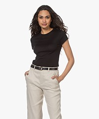 Drykorn Ermali Silk Blend Sleeve Sweater - Black