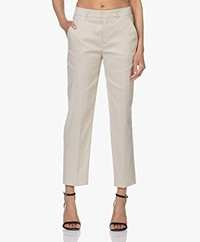 Drykorn Search Linnenmix Cropped Pantalon - Beige