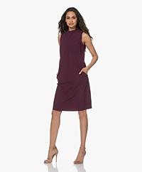 JapanTKY Chiery Sleeveless Travel Jersey Dress - Burgundy