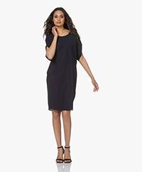 JapanTKY Daly Light Travel Jersey Dress - Blue-Black