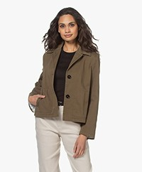 Drykorn Barbican Cotton Twill Jacket - Khaki