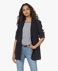 Filippa K Adriana Straight Viscose Blend Blazer - Navy