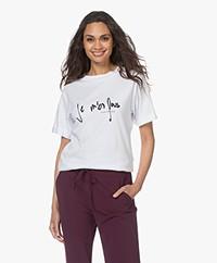 Plein Publique Je M'en Fous Modalmix T-shirt - Wit