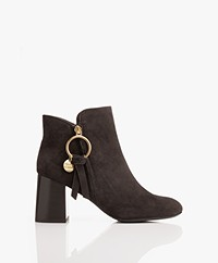 See by Chloé Louise Suede Ankle Boots - Grafite