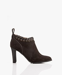 See by Chloé Suede Low Ankle Boots - Grafite