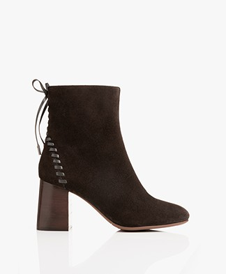 See by Chloé Stich Suede Ankle Boots - Grafite