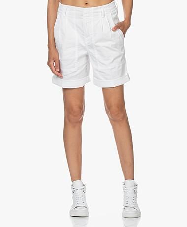 Drykorn Hiking Cotton Blend Bermuda Shorts - White
