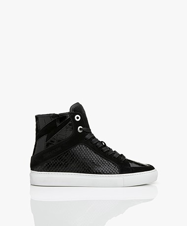 Zadig & Voltaire High Flash Structured Sneakers - Black