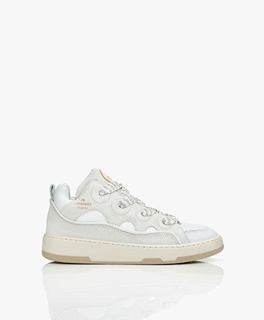 Copenhagen Studios Mixed Leren Mid-top Sneakers - White