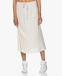 American Vintage Riricake Rib Jersey Skirt - Ecru Melange