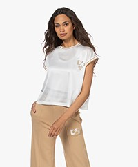 Dolly Sports Martina Perforated Mesh T-shirt - Off-white