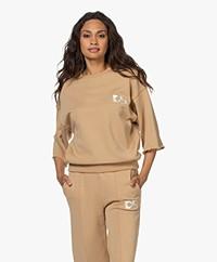 Dolly Sports Team Dolly Shortsleeve Sweatshirt- Camel