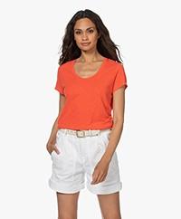 American Vintage Jacksonville Round Neck T-shirt - Vintage Orange