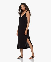 bassike Organic Cotton Jersey Slip Dress - Black