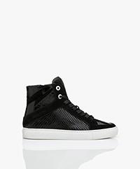 Zadig & Voltaire High Flash Gestructureerde Sneakers - Zwart