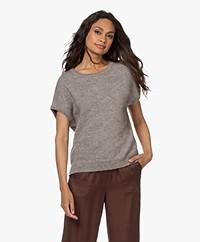 Sibin/Linnebjerg Aspen Merino-Alpaca Short Sleeve Sweater - Sand