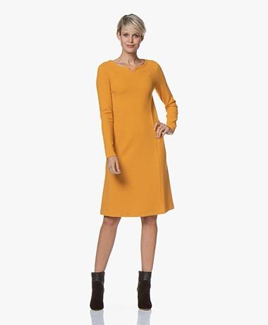 Kyra & Ko Pure Textured Jersey Dress - Caramel