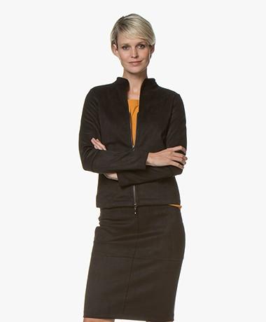Kyra & Ko Swan Suèdine Blazer Jacket - Black