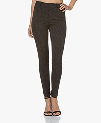 Drykorn Winch Skinny Snake Print Pants - Black