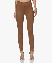 Kyra & Ko Juud Suèdine Slim-fit Broek - Toffee