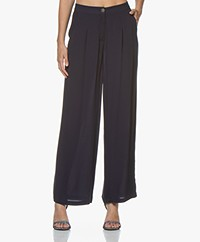 Marie Sixtine Leo High-rise Pants - Sailor