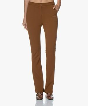 Kyra & Ko Faylinn Crêpe Jersey Pantalon - Toffee