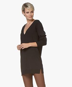 Kyra & Ko Mint Fine Knit Tunic Sweater - Black