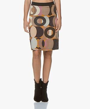 Kyra & Ko Jildou Textured Print Skirt - Caramel