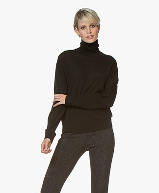 Drykorn Aluna Fine Knitted Turtleneck Sweater - Black