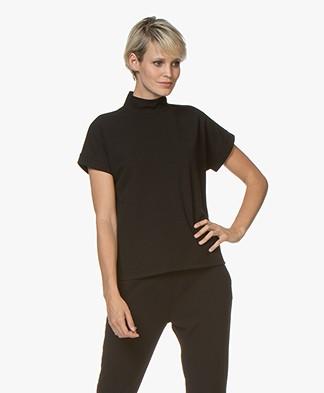 Josephine & Co Giorgio Crepe Jersey Blouse Top - Black
