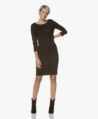 Kyra & Ko Aaf Suèdine Dress - Black